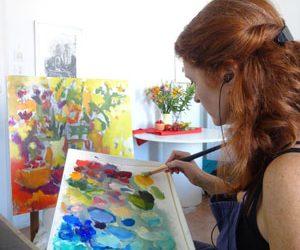 Kristine Ballard in studio